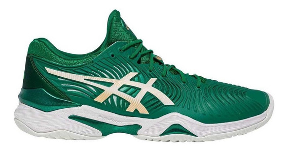 Tenis Asics Court Ff Novak New - Verde E Branco