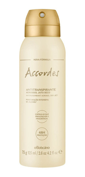 Accordes Desodorante Antitranspirante Aerosol, 75g/125ml