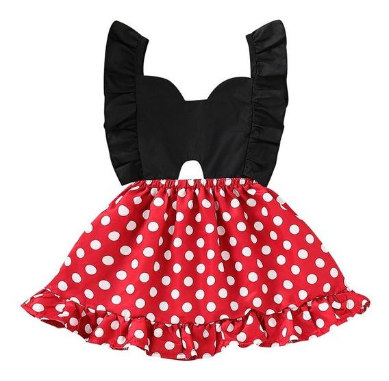 Vestido Casual Fiesta Disfraz Mimi Minnei Mouse Hermoso Olan