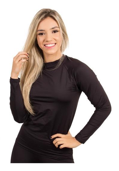 Conjunto Calça + Blusa Térmica Feminino Compressão Uv 50
