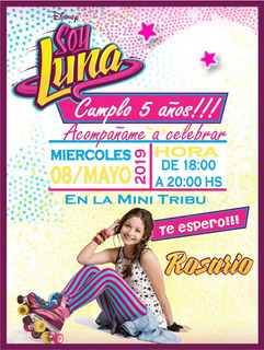 Tarjetas De Invitaciones Soy Luna En Mercado Libre Argentina