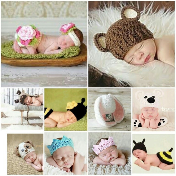 Kit 10 Newborn Crochê, Foto Ensaio Menino E Menina.