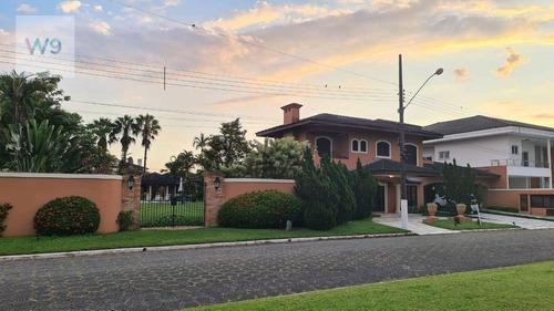 Mansão Com 5 Suítes À Venda Em Condomínio Fechado No Guarujá/sp , 2000 M² Por R$ 6.500.000 - Jardim Acapulco - Guarujá/sp - Ca0043