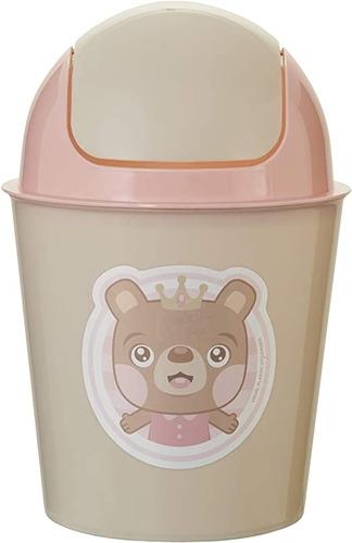 Lixeira 3l Oscilante Baby Menina - Usual Utilidades