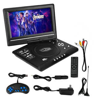 Reproductor Dvd Portatil 9,8 Tv Fm Juegos 12v 220v Usb C/rem