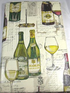 Tabelcoths De Vinilo De Franela Vino Y Licores De Elrene- As