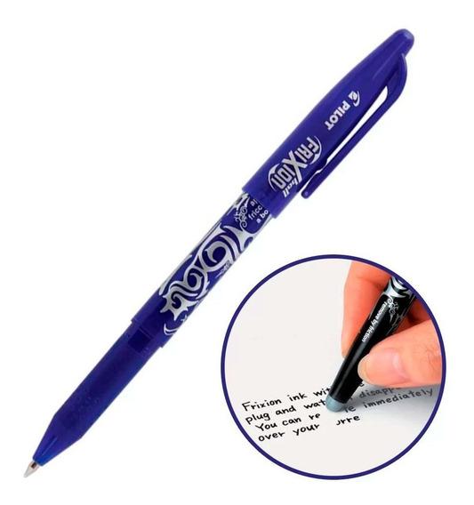 Caneta Pilot Frixion 0.7mm Azul Escreve E Apaga Original