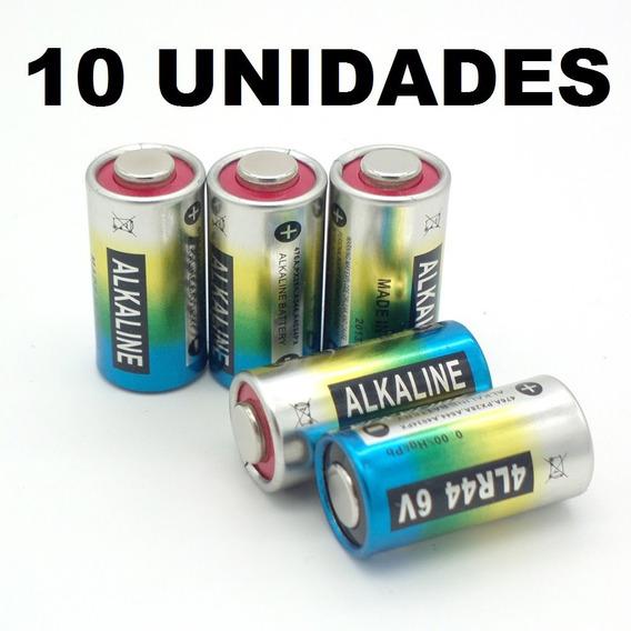 10 Pilha Bateria Coleira Adestram 4lr44 6v 476a A544x Px28a