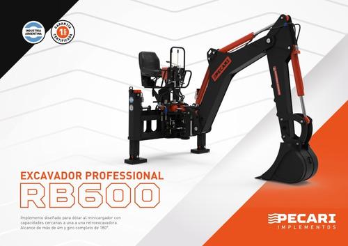 Implemento Excavador Professional Pecari Para Minicargadora