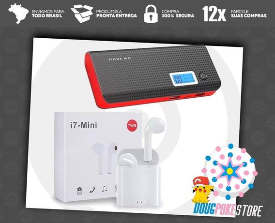 Kit Airfones I7 Mini + Power Bank 10 Mil Mah