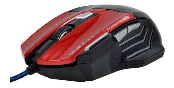 Mouse para jogo Feir FR-404 vermelho e preto