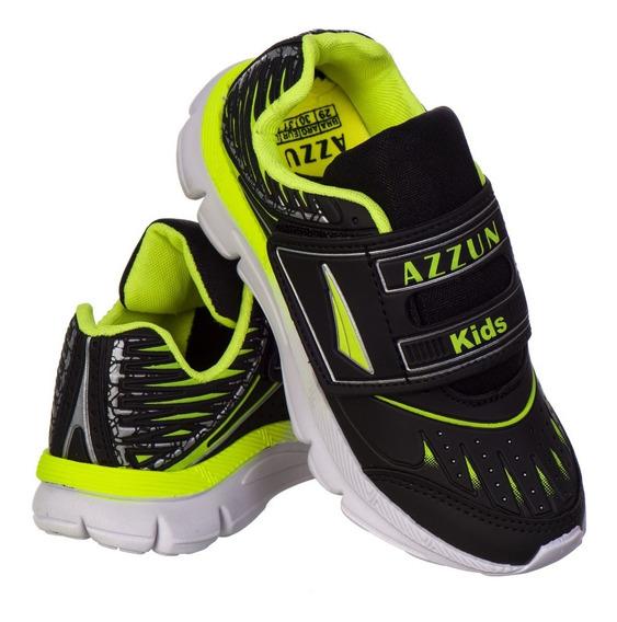 Tênis Infantil Masculino Escola Leve Velcro Promoção As121