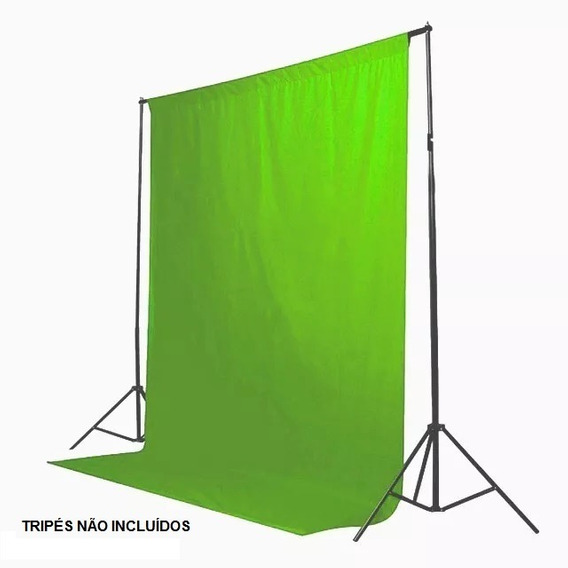 Fundo Infinito Tecido 3x3 P/cromakey Infinity Tc-3030v Verde