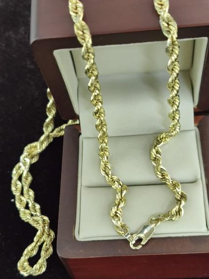 Cadena De Oro Amarillo Tipo Torzal 10k