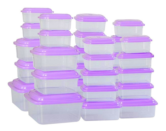 Vasilhas Plástico Para Alimentos Jogo Com 30 Potes Plásticos