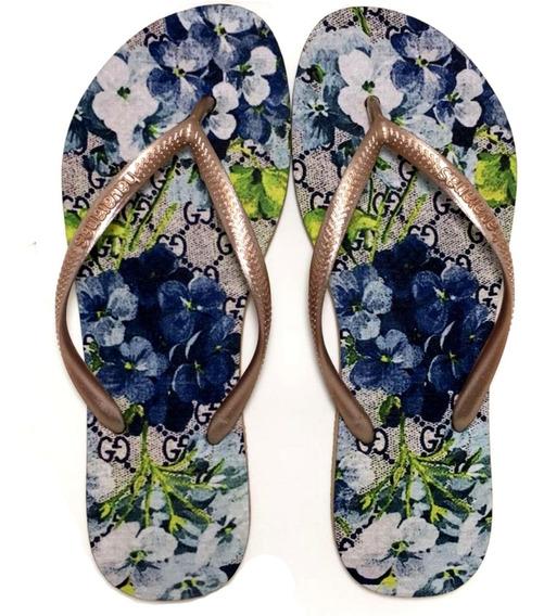 Chinelo Havaianas Personalizada Floral Luxo Linda
