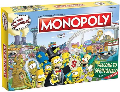 Monopoly Los Simpson - Juego De Mesa Oficial - Hasbro