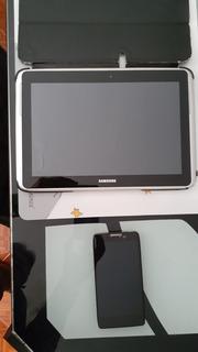 Celular Motorola Razr Y Tablet Samsung De 10 Pulgadas