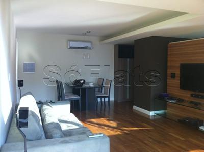 Flat No Jardins Para Locação 1 Dorm 90m² Duplex - Sf26354