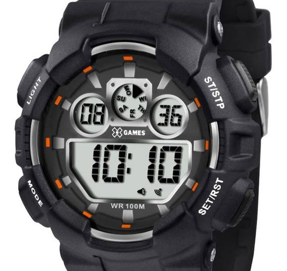 Relógio X-games Xport Masculino Preto Xmppd345 Bxpx + Nf-e