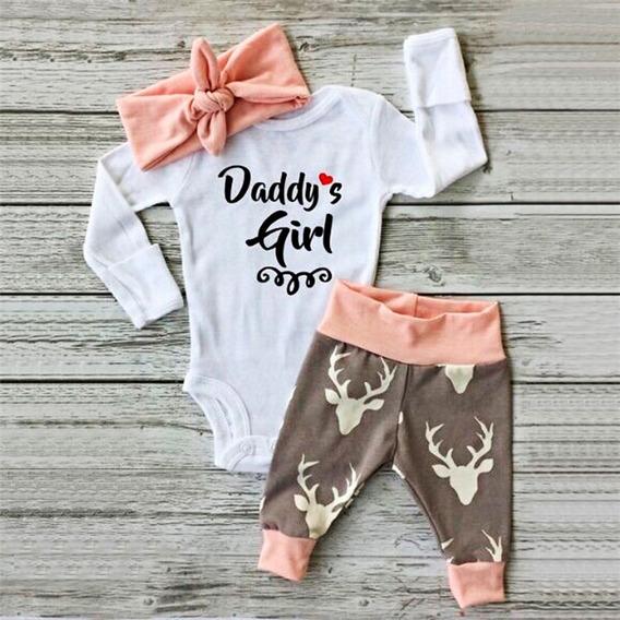 Conjunto 3 Piezas De Moda Para Bebe Niña