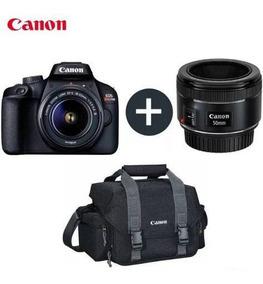 Câmera Canon Digital Rebel T100 18-55 + Lente Ef50mm + Bolsa