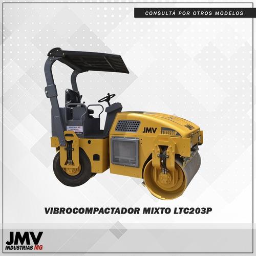 Imagen 1 de 8 de Vibrocompactador Mixto Jmv Ltc203p Rodillo Vial