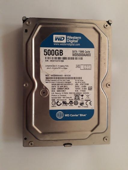 Hd 500gb Para Pc/desktop Hd Interno Usada Funcionando Normal