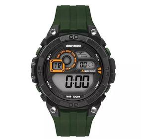 Relógio Mormaii Mo2019ab/8v Preto Verde G-shock Original