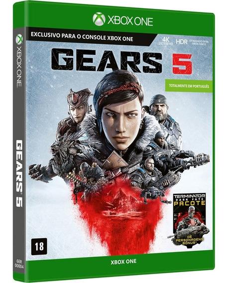 Gears Of War 5 Xbox One Midia Fisica Novo Dublado Português
