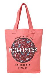 Bolsa Hollister By Abercrombie Logo Floral 100% Original