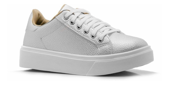 Zapato Zapatilla Mujer Blanco Rosa Negro Plataforma Sneaker