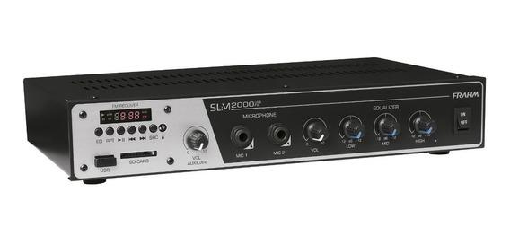 Amplificador Receiver P/até 20 Caixas Slim2000 Usb Fm 120w