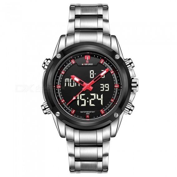 Relógio Masculino Naviforce 9050 Esportivo Pulseira De Aço
