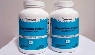 Kit 2x Magnésio Dimalato Malate 360 Tabletes Made In Usa