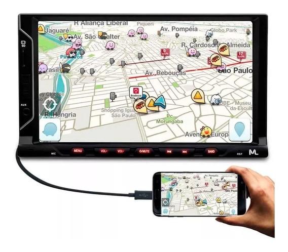 Central Multimídia Universal Mp5 Espelhamento Android 2 Din