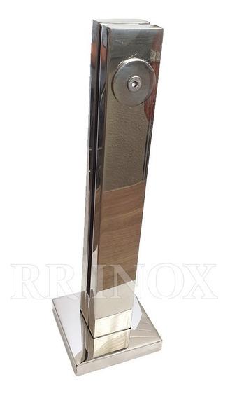 Coluna Torre Aço Inox 30cm (guarda-corpo)