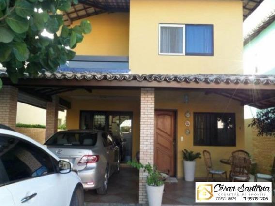 Casa 3/4 Mobiliada Em Condomínio Fechado - Pituaçu - Ca00512 - 34230966