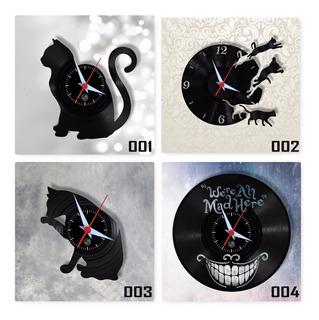 Gato Vários Modelos Pet Petshop Relógio Parede Vinil Arte Lp