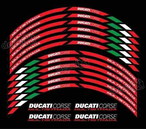 Kit Adesivo Refletivo Roda Interno Ducati Corse Fri26 Fgc
