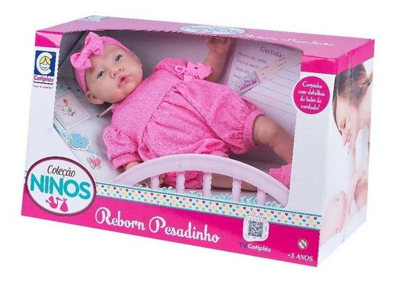 Boneca Bebê - Reborn - Ninos Pesadinho - Menina - Cotiplás