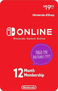Membresia Nintendo Switch X12 Meses Enero 2020 + Nes Oferta