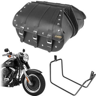 Kit Viagem Harley Fat Boy Alforge Masada 25l E Afastador
