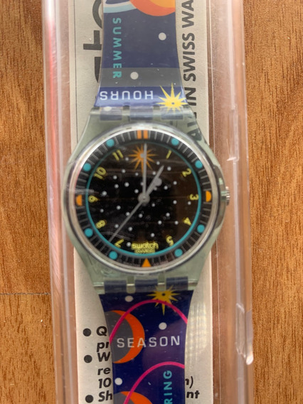 Relogio Swatch, Movimento Solar,ano 1984,sem Uso,manual E Cx