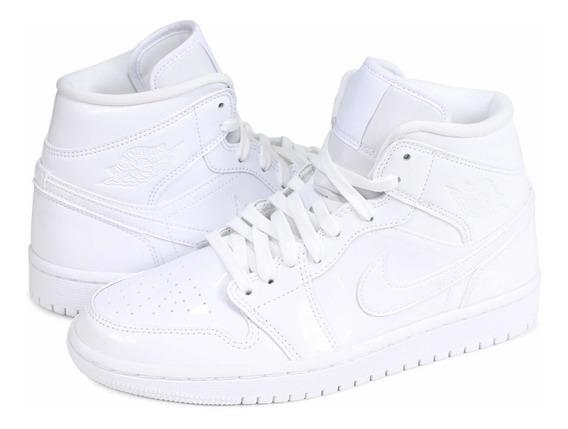 Jordan 1 Triple White Patent Nuevas 25cm.