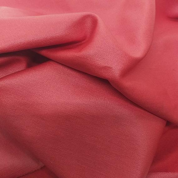por Metro Vestido Elástico Bengalino Tela rojo oscuro