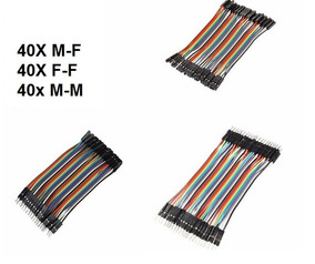 Kit 120 X Jumper Dupont Mxm Mxf Fxf Arduino 10cm