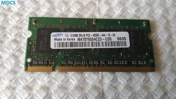 426 - Memória Ddr2 Samsung 512mb Pc2-4200s 444 Semi-nova