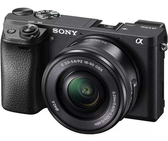 Câmera Digital Sony Alpha A6300 16-50mm F / 3.5-5.6 - Oss