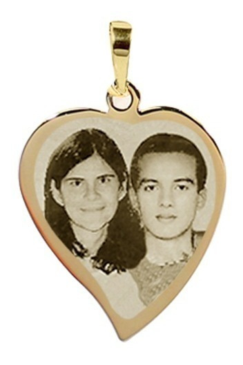 Pingente Personalizado De Ouro 18k Com Foto Gravada Pg28